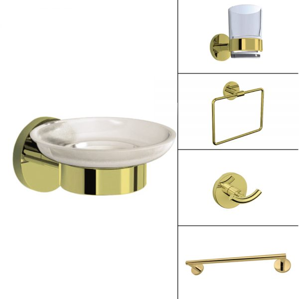 Gold Bath Accessories